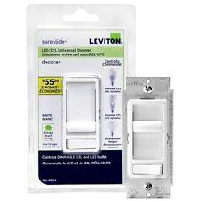 Leviton 06674-722 LED/CFL UNIVERSAL DIMMER SWITCH GRADATEUR UNIVERSEL DEL/LFC