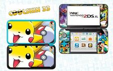 SKIN STICKER AUTOCOLLANT - NINTENDO NEW 2DS XL - REF 101 POKEMON