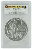 2017 P Ellis Island National Park 5oz Silver Coin PCGS SP70 First Day Issue