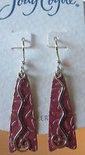Jody Coyote Earrings JC0801 Orchid SMC217-01 new silver dangle hypoallergenic
