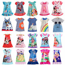 Baby Kids Girls Cartoon Shift Dress Summer Casual Pajamas Sleepwear Nightdress