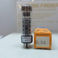 1x EL34 Siemens O-Getter NOS testet unused Tube Röhre Valvola