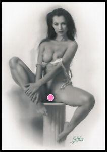 Calas JM_Dessin Pastel Erotique Original_Drawing Fine Art_A3_Pin-up_Nu_Nude