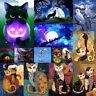 5D DIY Full Halloween Cat Diamond Painting Embroidery Cross Stitch Home Art Deco
