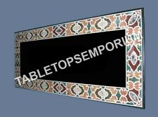4'x2' Black Marble Dining Center Table Top Handmade Inlay Marquetry Decor H5683