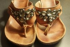 Leather sandals 9 from italy w stones