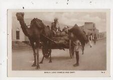 Maala Load Camels & Cart Aden Vintage RP Postcard 912a
