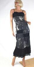 LE JEAN ! MARITHE FRANCOIS GIRBAUD ! MAXIKLEID PRINT DRESS BLAU D36