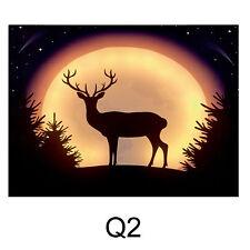 Premier Natale 40cm x 30cm Morbido Luminoso LED Pittura a tela - Q2 Renna