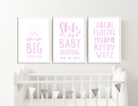 Pink Nursery Prints for Girls Bedroom Pictures Baby Room Decor Ideas Baby Gift
