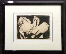 Marino Marini Scenery Vintage Framed Original Lithograph horse MAKE an OFFER