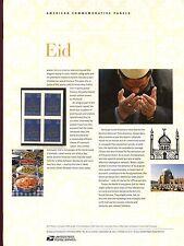 #4202 41c EID - Holiday Celebration USPS #801 Commemorative Stamp Panel