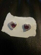 Heart Earrings Red and White