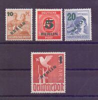Berlin 1949 - Grüner Aufdruck - MiNr. 64/67 postfrisch** - Michel 250,00 € (883)