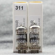 ECC82 12AU7 TUBES IN BOX Silver Top Ring Getter UK BRIMAR Matched pairs