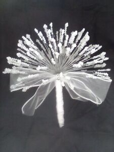 Crystal AB Faceted bead wedding bouquet perfect for brides and bridesmaids