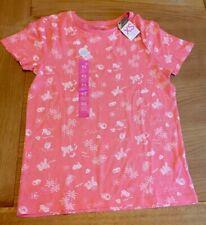Ladies Women's Girls Hawaii Pineapple Pink Coral T Shirt Blouse Top XS Size 6-8