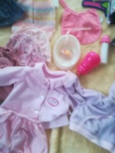 baby annabell baby born clothes dummy bottle dish hanger  hats