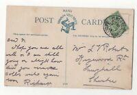 Ilkeston Derbyshire 1 Jul 1913 Single Ring Postmark 055c