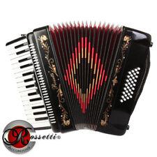 Rossetti, 3032, BLACK Piano Accordion 32 Bass, 30 Key, 3 Switch, Case & Straps