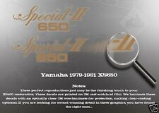 YAMAHA 1979-1981 XS650 SIDE COVER DECALS GRAPHICS