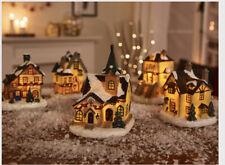 Christmas Village Scene 5 Piece Set