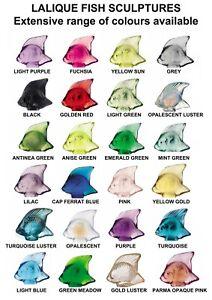 GENUINE LALIQUE Crystal Fish Sculpture ( Extensive range of colours available )