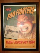 Vintage Foo Fighters Band Signed Poster Beckett Dave Grohl No.1 Debut Album Lp