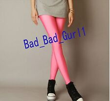 cecfd490566657 Neon Candy Color Shiny Glow Stretch Slim Pencil Party Leggings Fluorescent  Pants