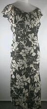 FOR WOMEN SLEEVELESS FLORAL BLACK/WHITE LINED DRESS SIZE 16