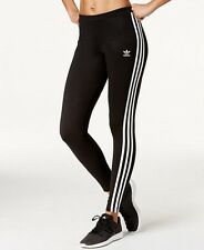Adidas Originals Black/White 3 Stripe Women's Leggings (Small) New With Tags