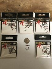 25 hooks (size 1) Matzuo 97001 Drop Shot Swivel Swivels Hooks (5 packs of 5)