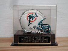Football Mini Helmet Display Case With A Marshall Faulk Colts / Rams Nameplate