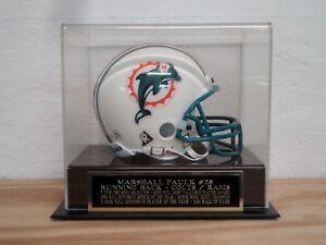 Marshall Faulk Football Mini Helmet Display Case W/ A Colts / Rams Nameplate