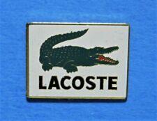 LACOSTE CLOTHING - CROCODILE LOGO EMBLEM ON WHITE BACKGROUND - VINTAGE LAPEL PIN