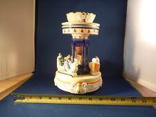 Unusual Vintage Howard Kaplan Victorian Era Spinning Animal Carousel Music Box