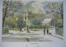 SHEFFIELD SCENES NORTON CHURCH DN BROPHY 1995 33 X 24 CM SIGNED LIMITED ED  #NS#