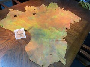 TIE-DYE DEERSKIN 2-2.5 oz  HOT NEW ITEM!!!  (sold in set of 15 square feet)