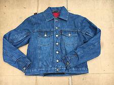 "RED ROUTE Ladies Denim Motorbike Motorcycle Jacket Size UK 12   36"" Chest   L8"