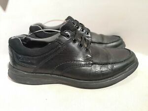 Men's Clarks Soft Cushion Black Work Shoes Size UK 7 H
