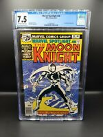 Marvel Spotlight #28 CGC 7.5 - First Solo Moon Knight Story! MCU Disney + Show