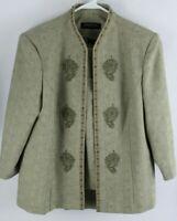 Perceptions Women's 3 Pc. Embroidered Pantsuit Size 12P Petite Pants Suit Blazer
