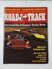 Road & Track Feb 1974 Mercedes-Benz 450SL  Ferrari Dino - Porsche Targa Corvette