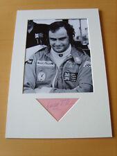 Gunnar Nilsson Genuine Autograph - UACC / AFTAL.