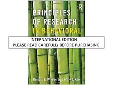 PRINCIPLES OF RESEARCH IN BEHAVIORAL SCIENCE, 3 ED by WHITLEY AND KITE