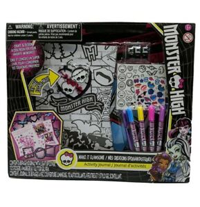 Monster High Activity Journal Book Light Up Cover Art Kit Make it Clawsome