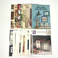 Lot of 16 Cross Stitch Patterns & Leaflets Assorted Brands and Styles