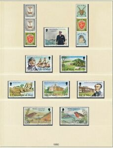 D208849 Isle of Man 1980 Nice selection of MNH stamps