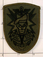 MACSOG Patch Green Camo Subdued Hat Skull Wings Star Observations Group