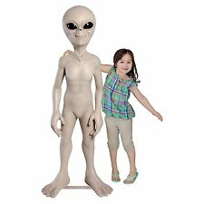 Life size Roswell Halloween resin Alien prop statue decor 5 ft